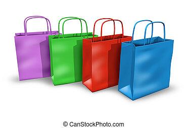 pantalló, bevásárlás, csoport