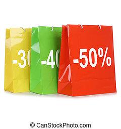 pantalló, bevásárlás, kínálat, kiárusítás, kedvezmények, közben, vagy, különleges