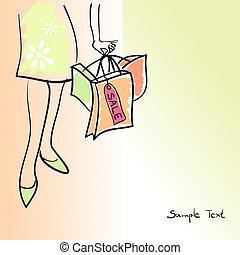 pantalló, nő, bolt