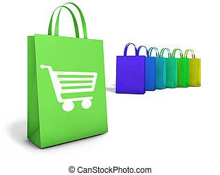 pantalló, online bevásárlás, e-commerce
