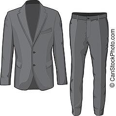 pants., bőr, vektor, illeszt, hím, öltözet