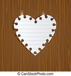 papír szív