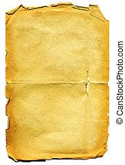 paper., rongyos, öreg, textured