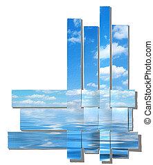 paper-strip, sző, ég