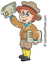 paperman, karikatúra