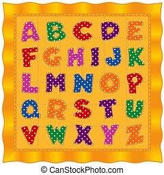 paplan, arany, abc, polka, irodalomtudomány, fényes, háttér, csecsemő, pont