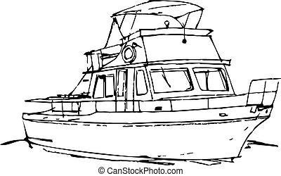 part felől, sketche, csónakázik