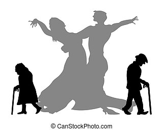 partner, lenni, álmodik, tánc