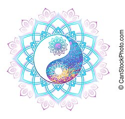 pasztell, jelkép, yin yang