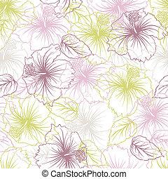 pasztell, virág, pattern., seamless, finomság