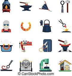 patkolókovács, állhatatos, szín, ikonok, lakás