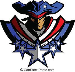 patrióta, kalap, csillaggal díszít, g betű, kabala