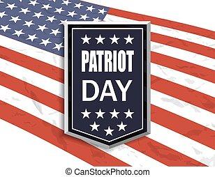 patrióta, transzparens, nemzeti, ábra, day., háttér., lobogó, fehér, inscription.