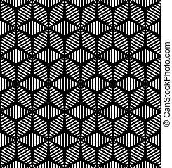 pattern., seamless, geometriai