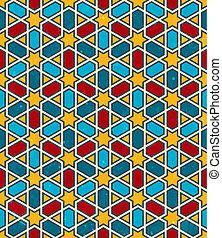pattern., seamless, marokkói, háttér., vektor, geometriai