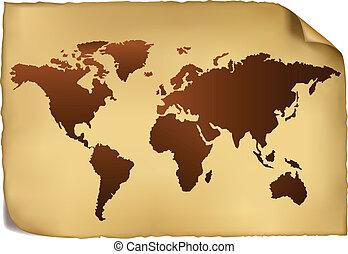 pattern., térkép, világ, szüret