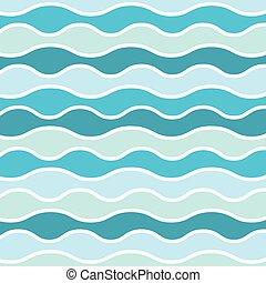 pattern-, tenger, lenget, vektor, mairne, ábra