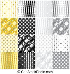 patterns:, geometriai, blokkok, seamless, ékezetez
