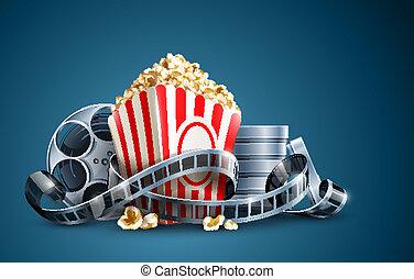 pattogatott kukorica, mozi henger, film