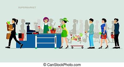 payout, kitérővágány, élelmiszer áruház