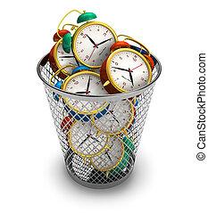 pazarlás, fogalom, idő