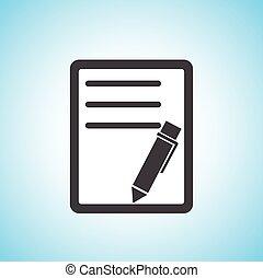 pen/paper, dokumentum, ikon