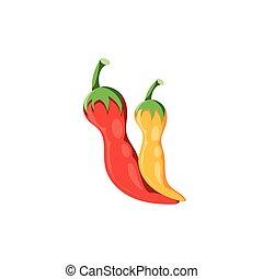 peppers, mexikói, white háttér
