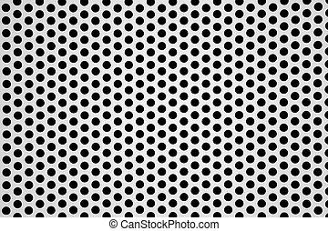 perforated lap, alumínium, háttér, fémből való