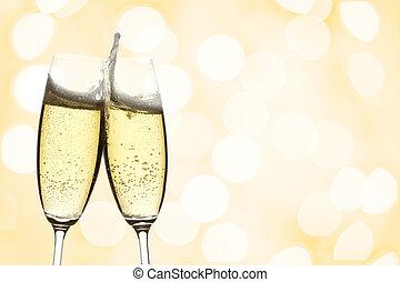 pezsgő, két, szemüveg