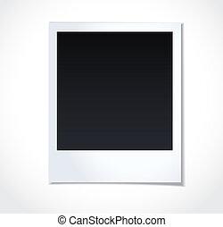 photoframe, fehér, polaroid, háttér