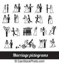 pictograms, házasság