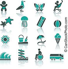 pihenés, állhatatos, idegenforgalom, szünidő, &