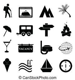 pihenés, állhatatos, szabad, ikon