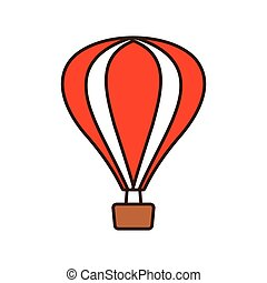 pihenés, airballoon, utazás, szünidő, karikatúra