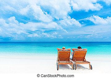 pihenés, tengerpart