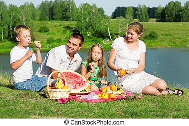 piknik, család
