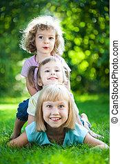 piknik, gyerekek, birtoklás