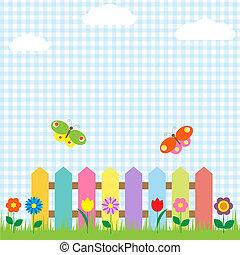 pillangók, menstruáció, kerítés, színes