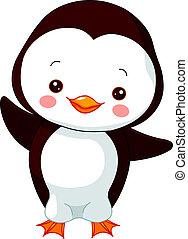 pingvin, móka, zoo.