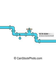 pipes., víz, eresztő