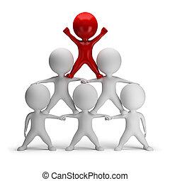 piramis, siker, emberek, -, kicsi, 3
