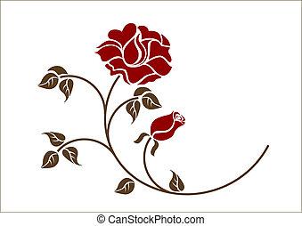 piros, backgroud., agancsrózsák, fehér