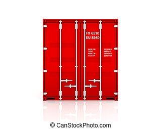 piros, container.