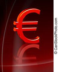 piros, euro