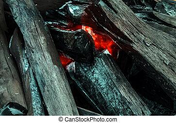 piros háttér, égető, struktúra, elbocsát, láng
