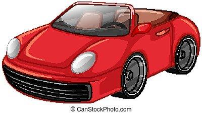 piros háttér, fehér, autó fut