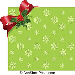 piros, karácsony, szalag, zöld