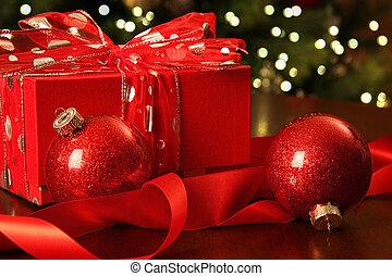piros, karácsonyi díszek, tehetség