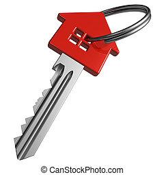 piros, kulcs, house-shape