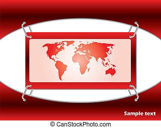 piros lap, térkép